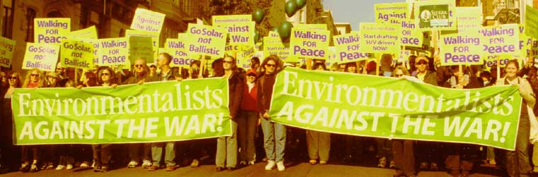 Environmentalists Against the War in San Francisco, January 2003